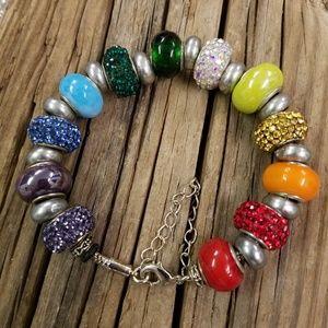 Nwot Pride European glass Murano bracelet